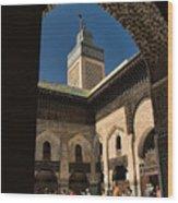 Zaouia El Tijaniya Mosque In Fes Morroco Wood Print