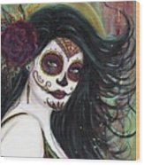 Zatina Day Of The Dead Wood Print