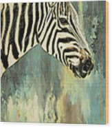 Zebra Abstracts Too Wood Print