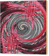 Zebra And A Rose Wood Print