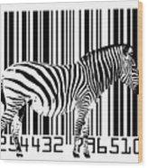 Zebra Barcode Wood Print by Michael Tompsett