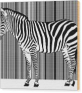 Zebra Barcode Wood Print