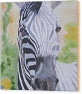 Zebra Crossing Wood Print