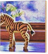 Zebra Dreaming Wood Print