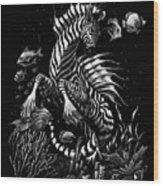 Zebra Hippocampus Wood Print