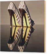 Zebra Print Stiletto Wood Print