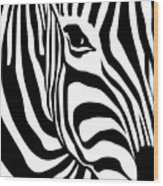 Zebra Wood Print by Ron Magnes