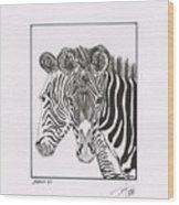 Zebra Series 6 Wood Print