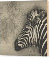 Zebra Study Wood Print