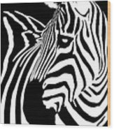 Zebra Works Wood Print