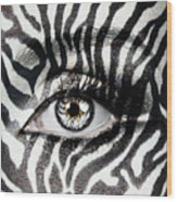 Zebra  Wood Print by Yosi Cupano