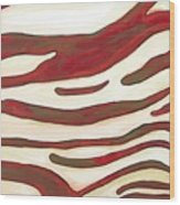 Zebra Zone - Color On White Wood Print
