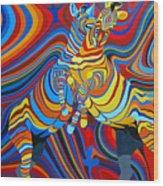 Zebradelic Wood Print