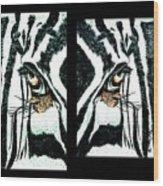 Zebras Eye - Studio Abstract  Wood Print