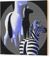 Zebredee Wood Print
