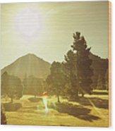Zeehan Golf Course Wood Print