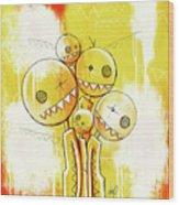 Zeeko Abstract #101 Wood Print