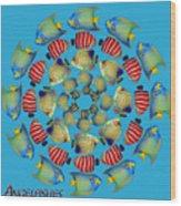 Zeerkl Of Angelfish Wood Print