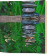 Zen Art And Reflections By Kaye Menner Wood Print