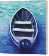 Zen Boat Wood Print
