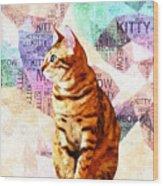 Zen Cat Wood Print