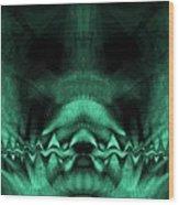 Zen Chaos / Teal  Wood Print