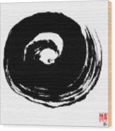 Zen Circle Wave Wood Print by Peter Cutler