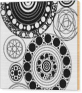 Zen Circles Design Wood Print