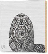 Zen Egg Wood Print