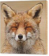 Zen Fox Red Fox Portrait Wood Print