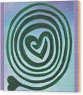 Zen Heart Labyrinth Sky Wood Print