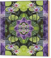 Zen Lilies Wood Print by Bell And Todd