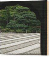 Zen Lines Wood Print