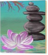Zen Pool- Turquoise Wood Print