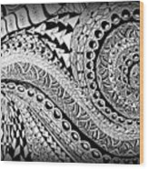 Zen Tangle 1 Wood Print