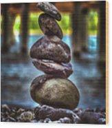 Zen Under The Dock Wood Print