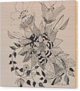 Zentangle 16-02 Wood Print