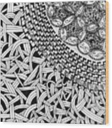 Zentangle Inspired Design Wood Print