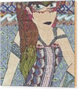 Zentangle Queen  Wood Print