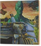 Abe City Zephyr Wood Print