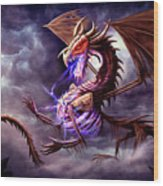 Zerolios - Bone Lighting Dragon Wood Print