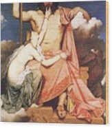 Zeus And Thetis  Wood Print