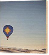 Zia Flight At White Sands Wood Print