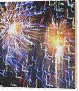 Zig Zag Blast Wood Print by Debra     Vatalaro
