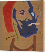 Brown Zig Zag Man Wood Print