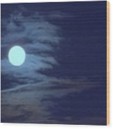 Zig Zag Moon Wood Print