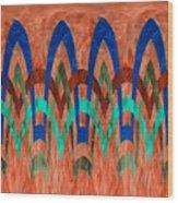 Zig Zag Pattern On Orange Wood Print