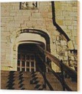 Zig Zag Shadows At Clifford's Tower, York, England Wood Print