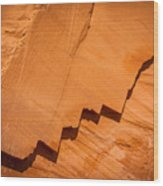 Zigzag Sandstone Wood Print