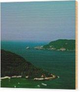 Zihuatanejo Harbor Wood Print